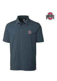 Ohio State Buckeyes Cutter and Buck Medina Tonal Polo Shirt - Black
