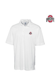 Ohio State Buckeyes Cutter and Buck Genre Polos Shirt - White