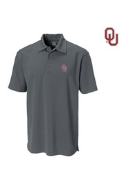 Cutter and Buck OU Sooners Mens charcoal Genre Polo