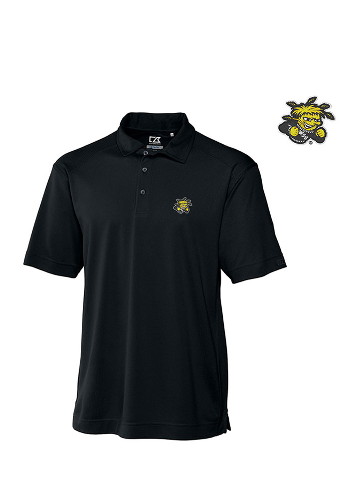 Cutter and Buck Wichita State Shockers Mens Black Genre Short Sleeve Polo - Image 1