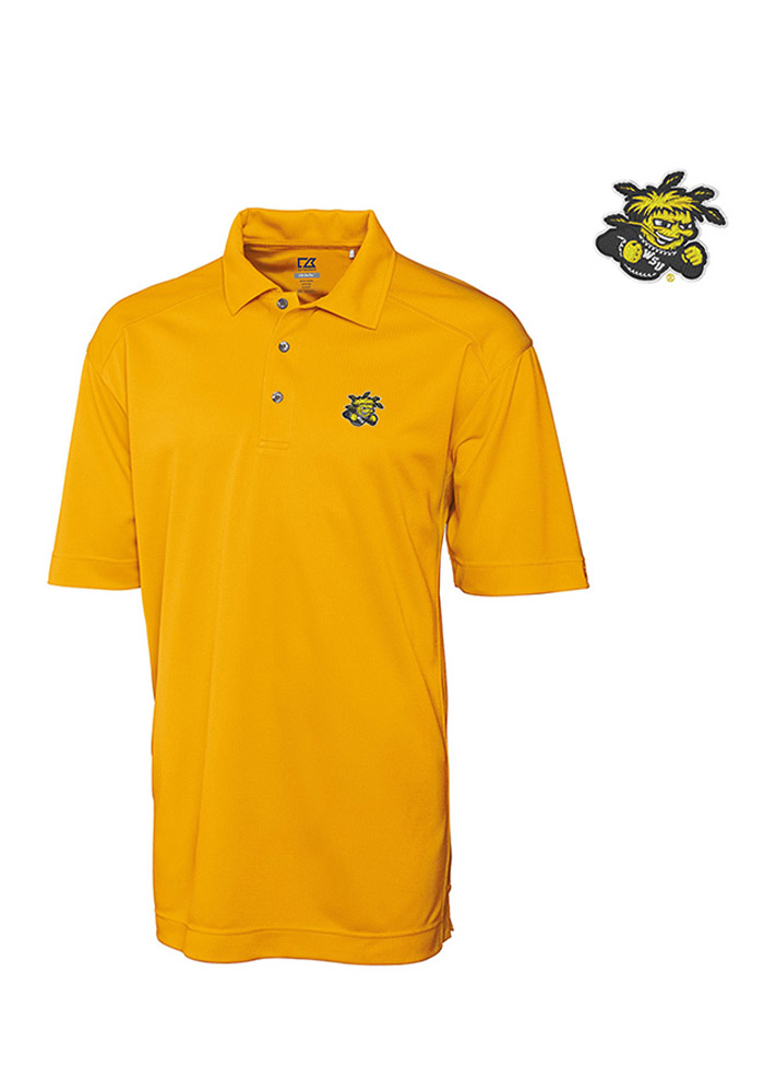 Cutter and Buck Wichita State Shockers Mens Gold Genre Short Sleeve Polo - Image 1