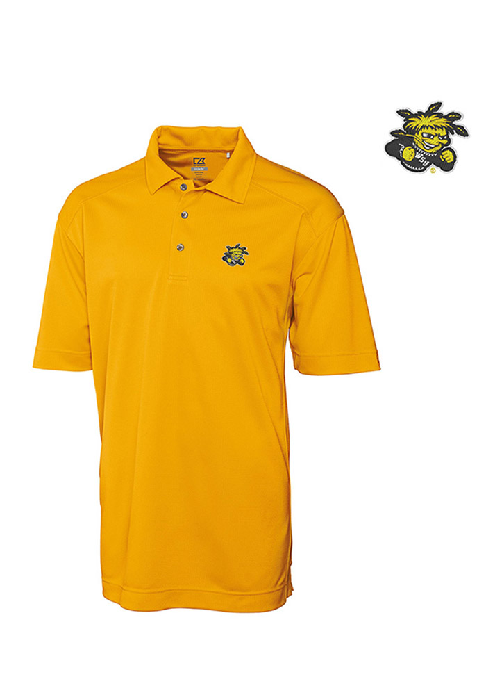 Cutter and Buck Wichita State Shockers Mens Gold Genre Short Sleeve Polo - Image 2