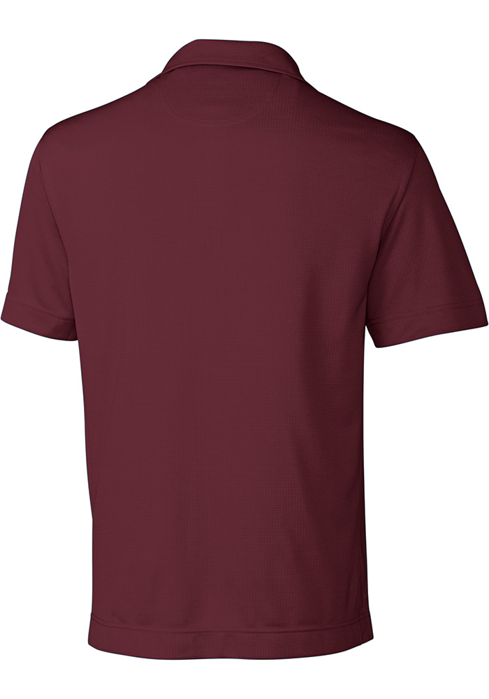 Cutter and Buck Texas A&M Aggies Mens Maroon Genre Short Sleeve Polo - Image 2