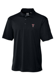 Cutter and Buck Texas Tech Mens Black Genre Short Sleeve Polo Shirt