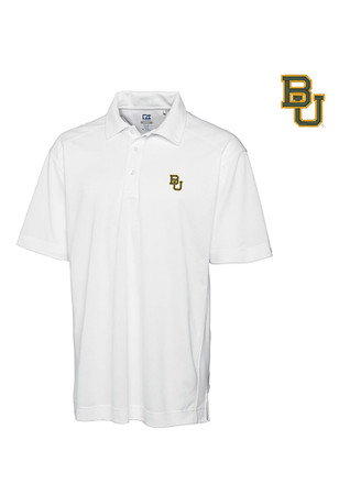 Cutter and Buck Baylor Bears Mens White Genre Short Sleeve Polo Shirt