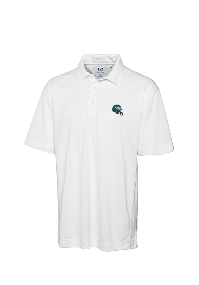 Cutter and Buck Philadelphia Eagles Mens White Genre Short Sleeve Polo - Image 1