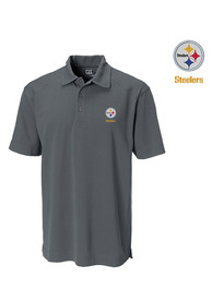 Pittsburgh Steelers Cutter and Buck Genre Polo Shirt - Grey