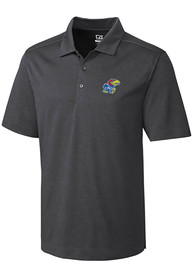 Kansas Jayhawks Cutter and Buck Chelan Polo Shirt - Charcoal
