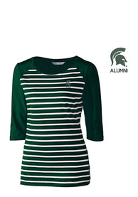 Cutter and Buck Michigan State Spartans Womens Revel Scoop Neck Tee