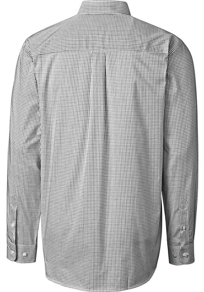 Cutter and Buck Michigan State Spartans Mens Black Tattersall Long Sleeve Dress Shirt - Image 2