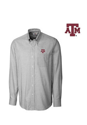 Cutter and Buck Texas A&M Mens Tattersall Dress Shirt