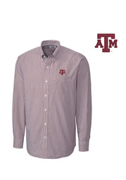 Cutter and Buck Texas A&M Mens Maroon Mini Bengal Dress Shirt