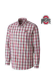 Ohio State Buckeyes Cutter and Buck North Point Dress Shirt - Red