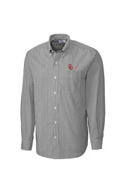 Cutter and Buck Oklahoma Sooners Mens Grey Mini Bengal Dress Shirt
