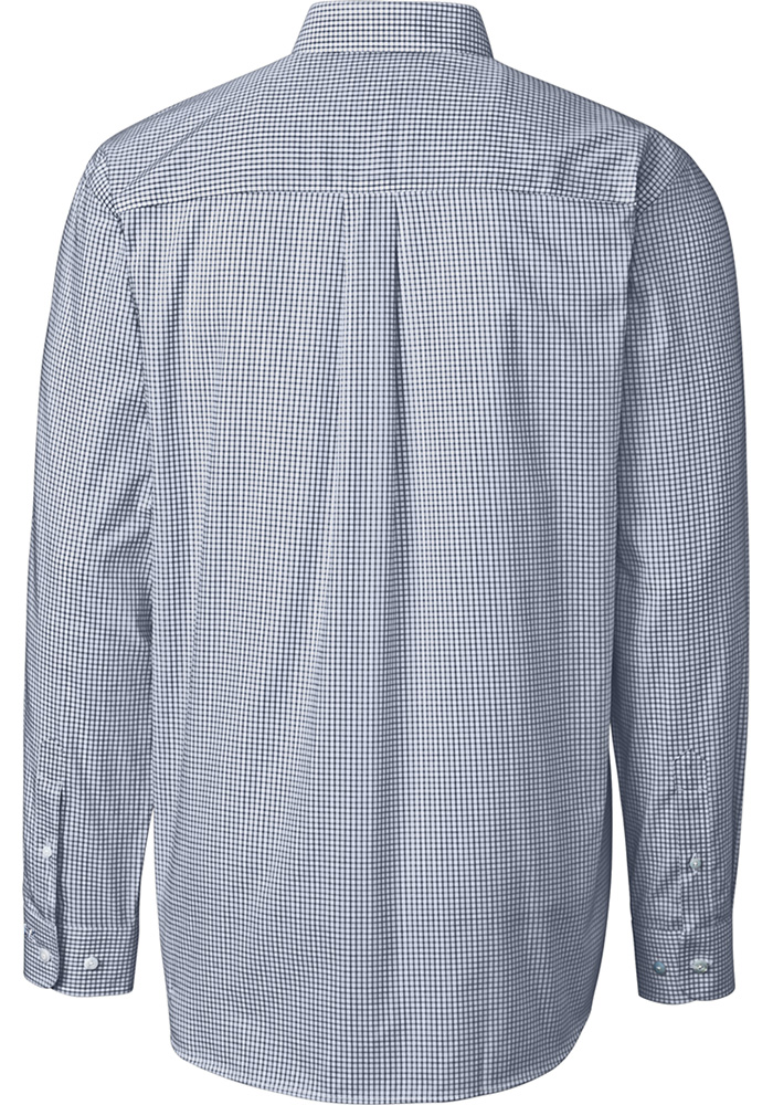 Cutter and Buck Penn State Nittany Lions Mens Navy Blue Tattersall Long Sleeve Dress Shirt - Image 2