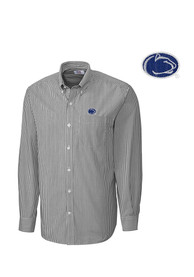 Cutter and Buck Penn State Nittany Lions Mens Grey Mini Bengal Dress Shirt