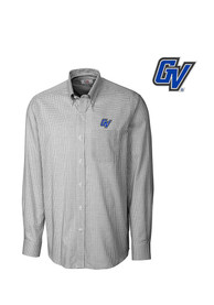 Cutter and Buck Grand Valley State Lakers Mens Black Tattersall Dress Shirt