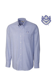 Cutter and Buck Saint Louis Billikens Mens Blue Tattersall Dress Shirt