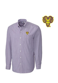 West Chester Golden Rams Cutter and Buck Mini Bengal Dress Shirt - Purple