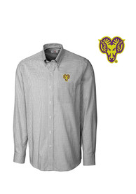 West Chester Golden Rams Cutter and Buck Tattersall Dress Shirt - Black