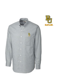 Baylor Bears Cutter and Buck Tattersall Dress Shirt - Green