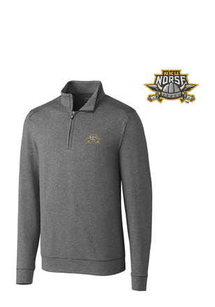 Cutter and Buck Northern Kentucky Norse Mens Grey Shoreline 1/4 Zip Pullover