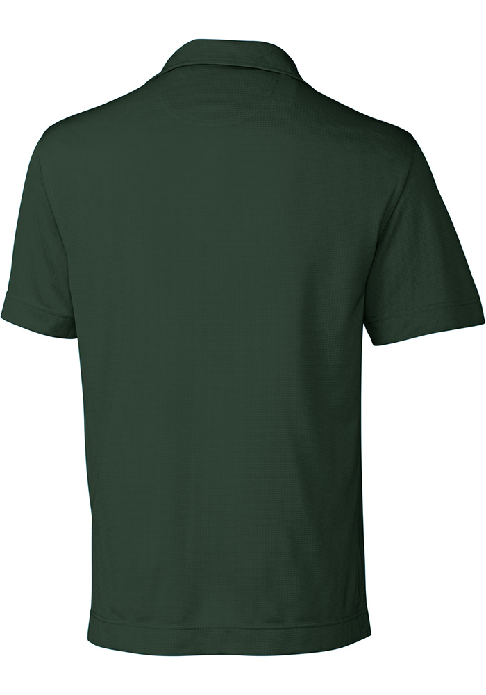 Cutter and Buck Michigan State Spartans Mens Green Genre Short Sleeve Polo - Image 2