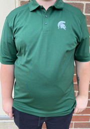 Cutter and Buck Michigan State Spartans Mens Green Genre Short Sleeve Polo