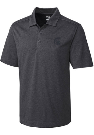 Cutter and Buck Michigan State Spartans Mens Grey Chelan Short Sleeve Polo Shirt