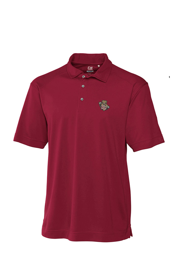 Cutter and Buck Kutztown Golden Bears Mens Maroon Genre Short Sleeve Polo Shirt 13490469