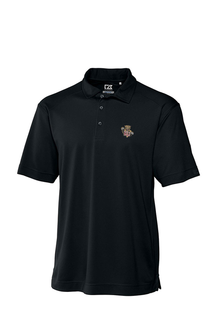 Cutter and Buck Kutztown University Mens Black Genre Short Sleeve Polo, Black, 100% POLYESTER, Size L