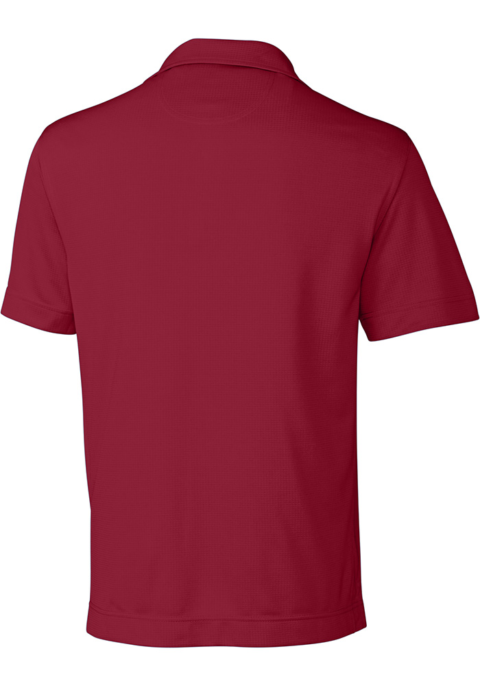 Cutter and Buck Lafayette College Mens Maroon Genre Short Sleeve Polo - Image 2