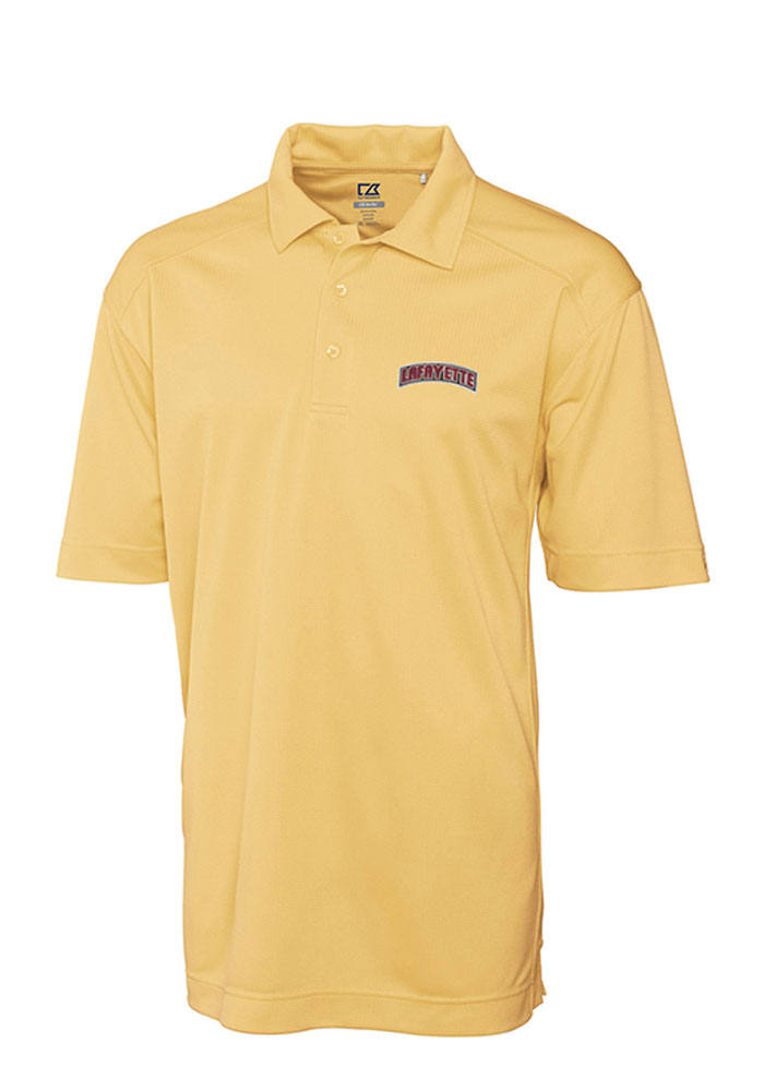 Cutter and Buck Lafayette College Mens Gold Genre Short Sleeve Polo - Image 1