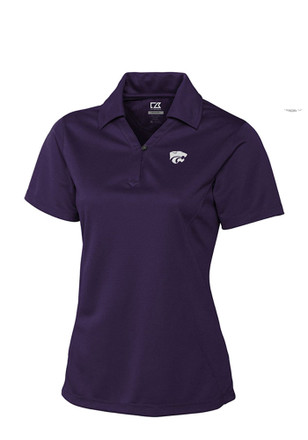 Cutter and Buck K-State Wildcats Womens Purple Genre Polo