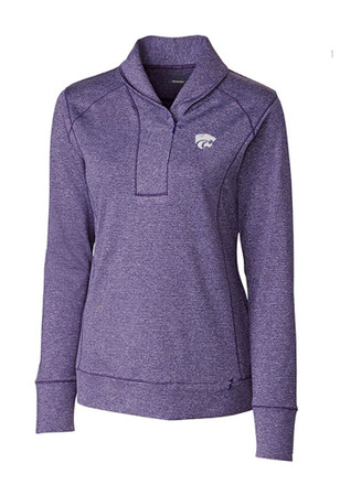 Cutter and Buck K-State Wildcats Womens Shoreline Purple 1/4 Zip Pullover