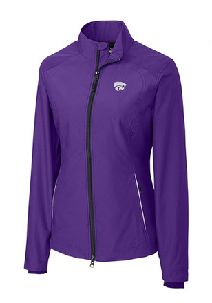 Cutter and Buck K-State Wildcats Womens Purple Beacon Full Zip Jacket