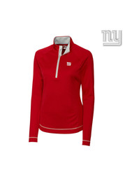 Cutter and Buck New York Womens Evolve Red 1/4 Zip Performance Pullover