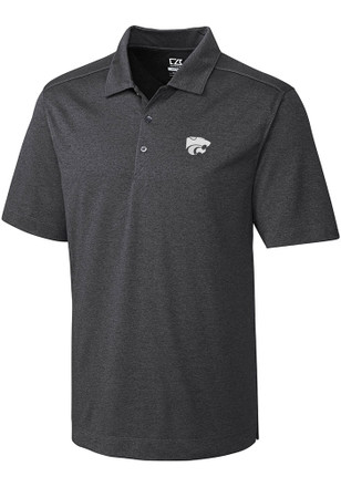 Cutter and Buck K-State Wildcats Mens Grey Chelan Short Sleeve Polo Shirt