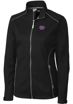 Cutter and Buck K-State Wildcats Womens Black Opening Day Light Weight Jacket