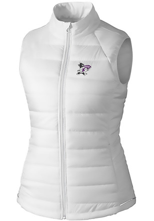 Cutter and Buck K-State Wildcats Womens White Post Alley Vest
