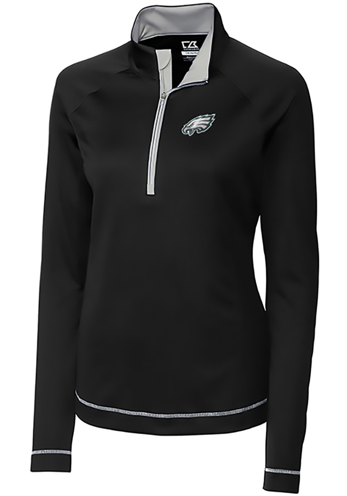 Cutter and Buck Philadelphia Eagles Womens Evolve Black 1 4 Zip Pullover 6ad0f7751