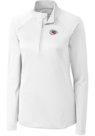 Kansas City Chiefs Womens Cutter and Buck Evolve 1/4 Zip - White