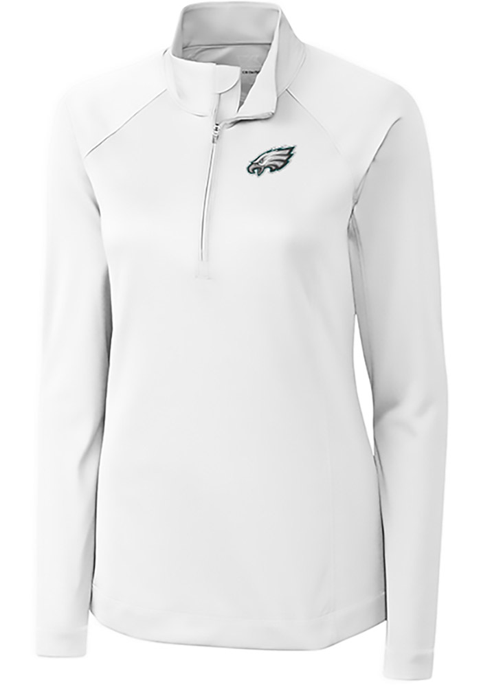 Cutter and Buck Philadelphia Womens White Evolve 1/4 Zip Pullover - Image 1