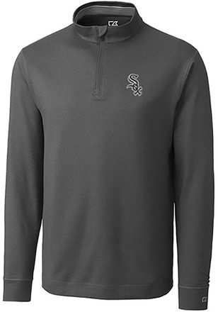 Cutter and Buck White Sox Mens Grey Topsipn 1/4 Zip Pullover