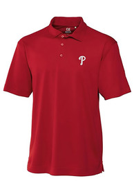 Philadelphia Phillies Cutter and Buck Genre Polo Shirt - Red