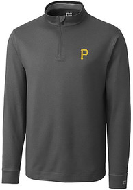 Pittsburgh Pirates Cutter and Buck Topspin 1/4 Zip Pullover - Charcoal