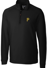 Pittsburgh Pirates Cutter and Buck Jackson 1/4 Zip Pullover - Black