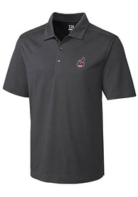 Cleveland Indians Cutter and Buck Chelan Polo Shirt - Charcoal