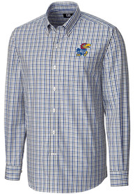 Kansas Jayhawks Cutter and Buck Gilman Dress Shirt - Blue