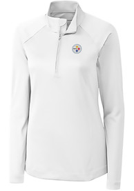 Pittsburgh Steelers Womens Cutter and Buck Evolve 1/4 Zip - White